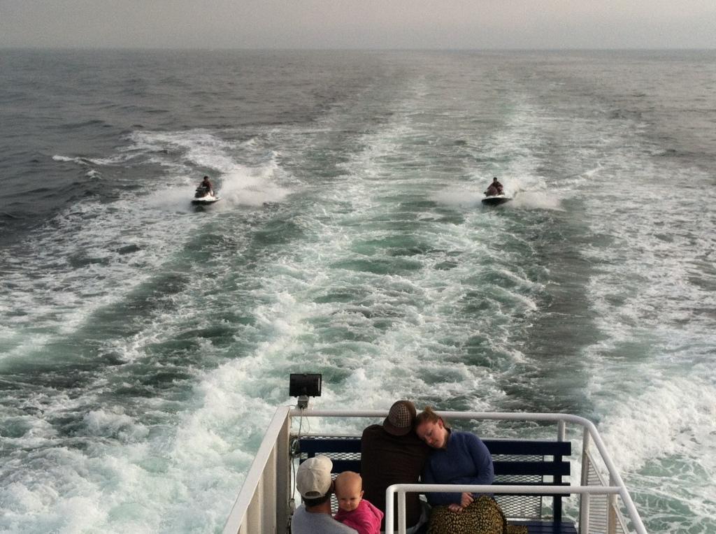 Ferry goers got to watch