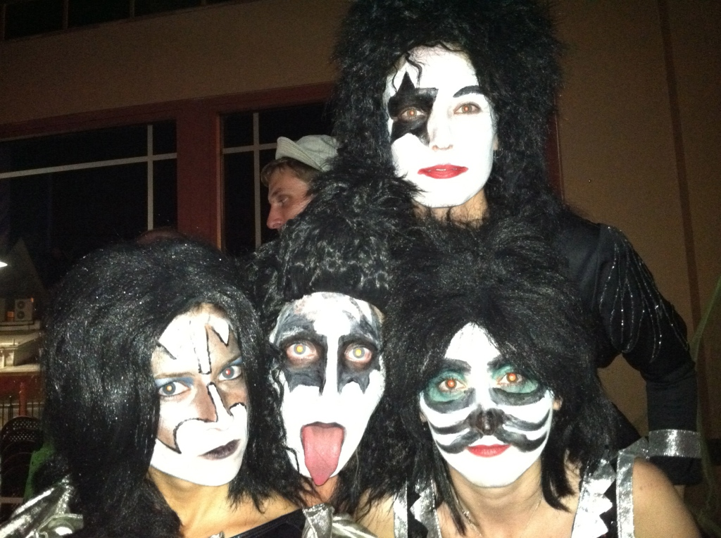 Gene Simmons, Star Child, and those two no one ever remembers (SpaceMan = me, given the I'm-from-Roswell thing and Cat Man.)