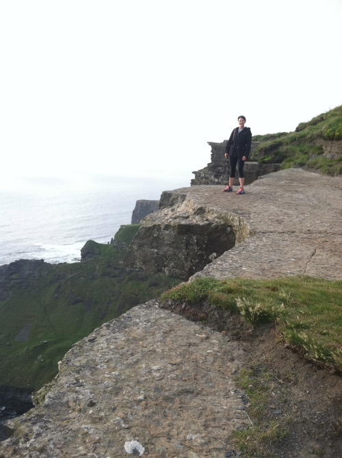 Taryn, on the edge of the world.