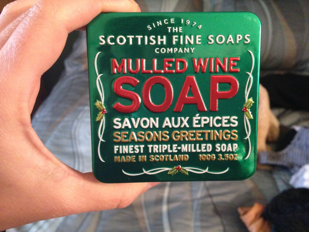 Because it's Scottish. I have, in the last three years, owned soap.