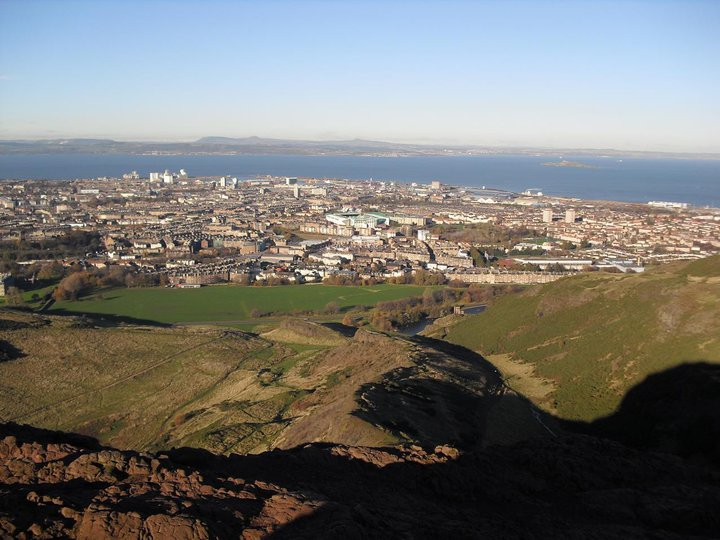 View from Arthur's seat, where I overheard a gentleman talking who sounded just like Sean Connery.