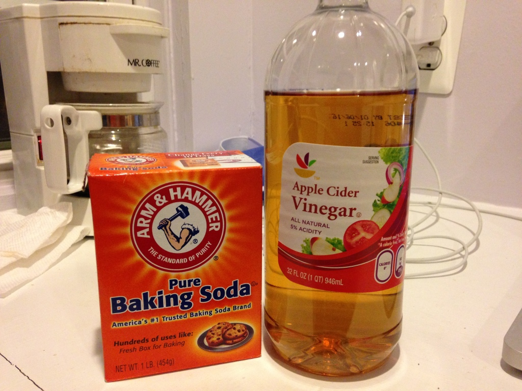I even popped for the name brand baking soda (not so, Stop and Shop ACV)