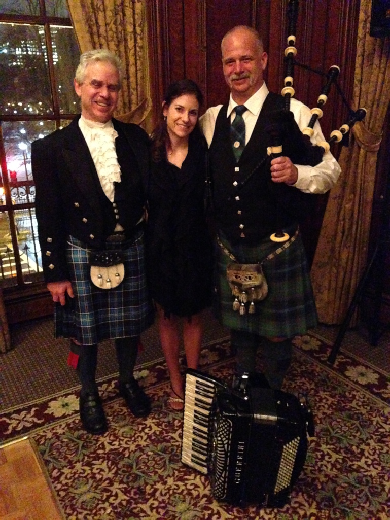 A hot mess can go unnoticed when bagpipes are involved.