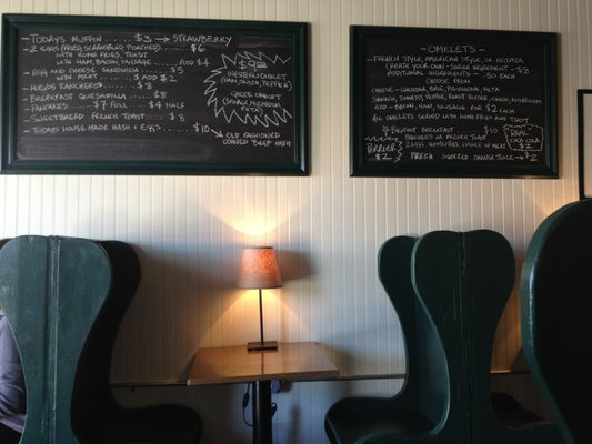 Menu placement. photo cred Yelper Michael S.