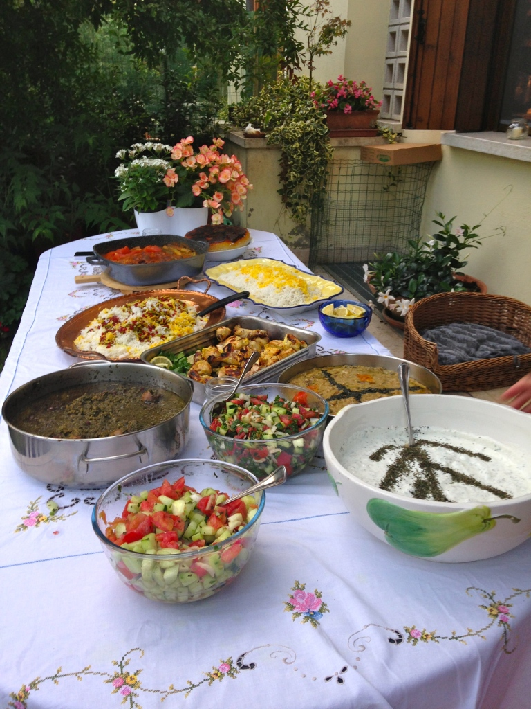 Iranian food homemade in Italy