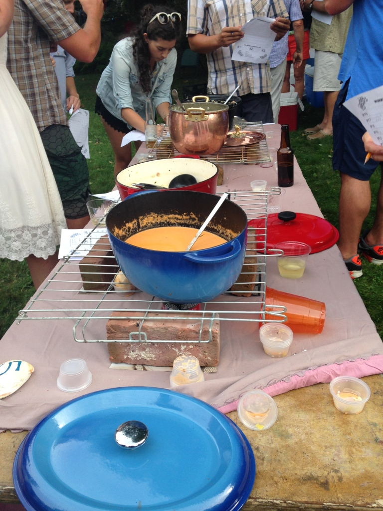 The winning chowder was made by my friend, Anne!